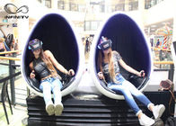 INFINITY 1 / 2 / 3 Seats Egg Shaped 9D VR Cinema With Logo Customized
