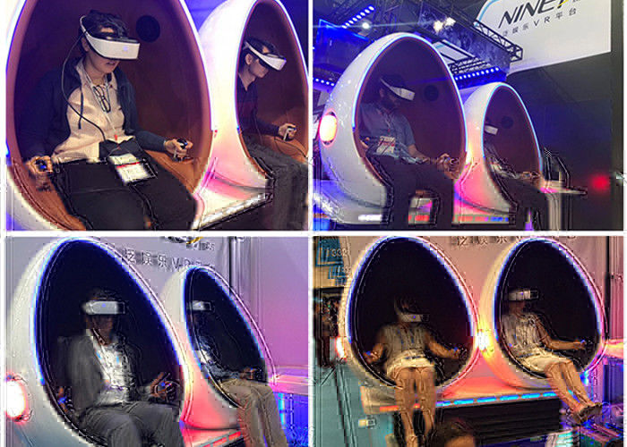 360 Degree Rotation Arcade Simulator 9D VR Cinema With Single / Double / Triple Outside Cabin