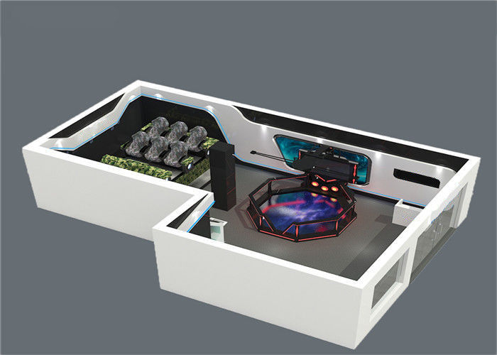 Center Platform Fiber Glass VR Theme Park 9D VR Room Fighting Game